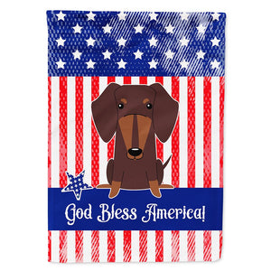 Buy this Patriotic USA Dachshund Chocolate Flag Garden Size BB3126GF
