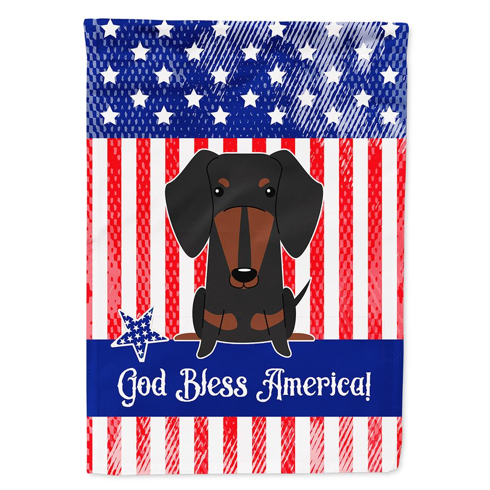 Patriotic USA Dachshund Black Tan Flag Garden Size BB3127GF by Caroline's Treasures