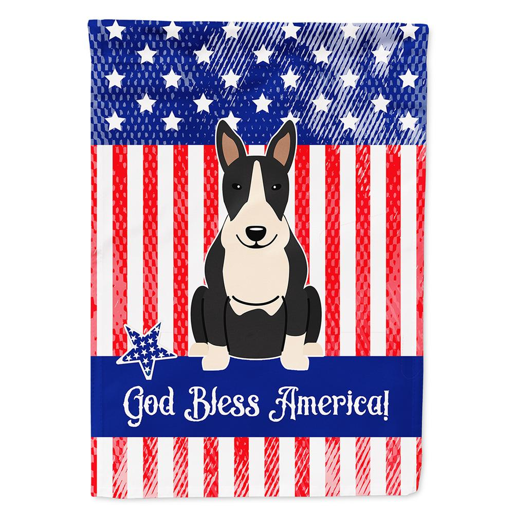 Buy this Patriotic USA Bull Terrier Black White Flag Garden Size BB3128GF