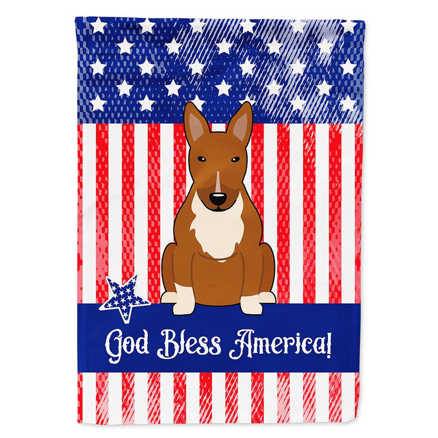 Buy this Patriotic USA Bull Terrier Red Flag Garden Size