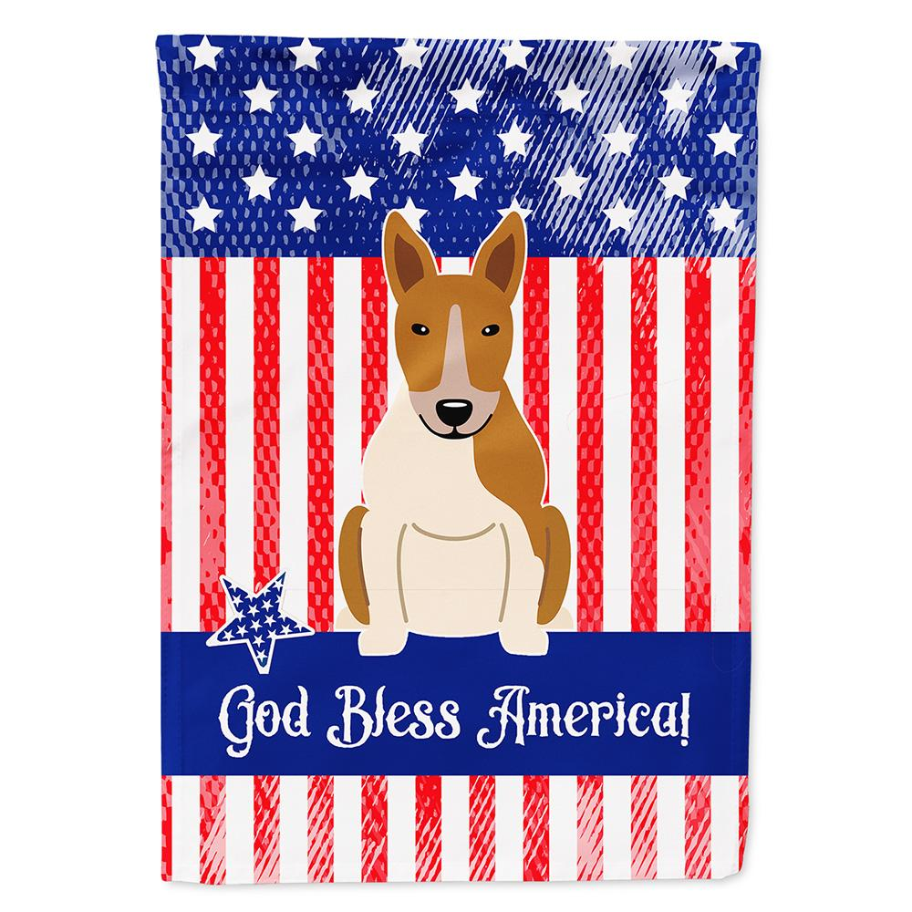 Buy this Patriotic USA Bull Terrier Red White Flag Garden Size