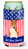 Patriotic USA Bull Terrier Red White Tall Boy Beverage Insulator Hugger BB3130TBC by Caroline's Treasures