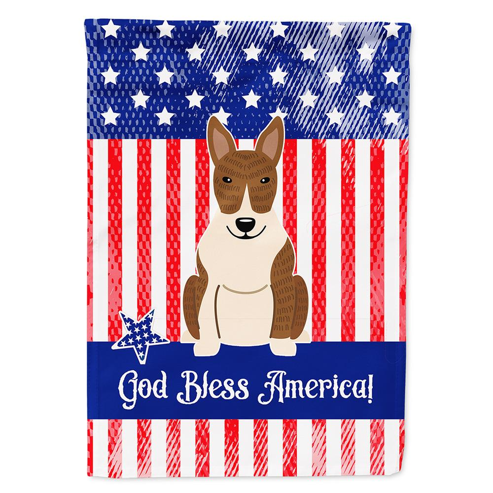 Buy this Patriotic USA Bull Terrier Brindle Flag Garden Size BB3132GF