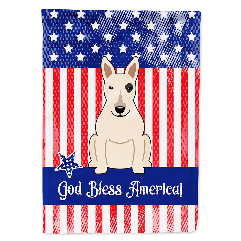 Buy this Patriotic USA Bull Terrier White Flag Garden Size BB3133GF
