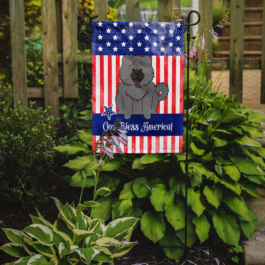 Buy this Patriotic USA Chow Chow Blue Flag Garden Size BB3134GF