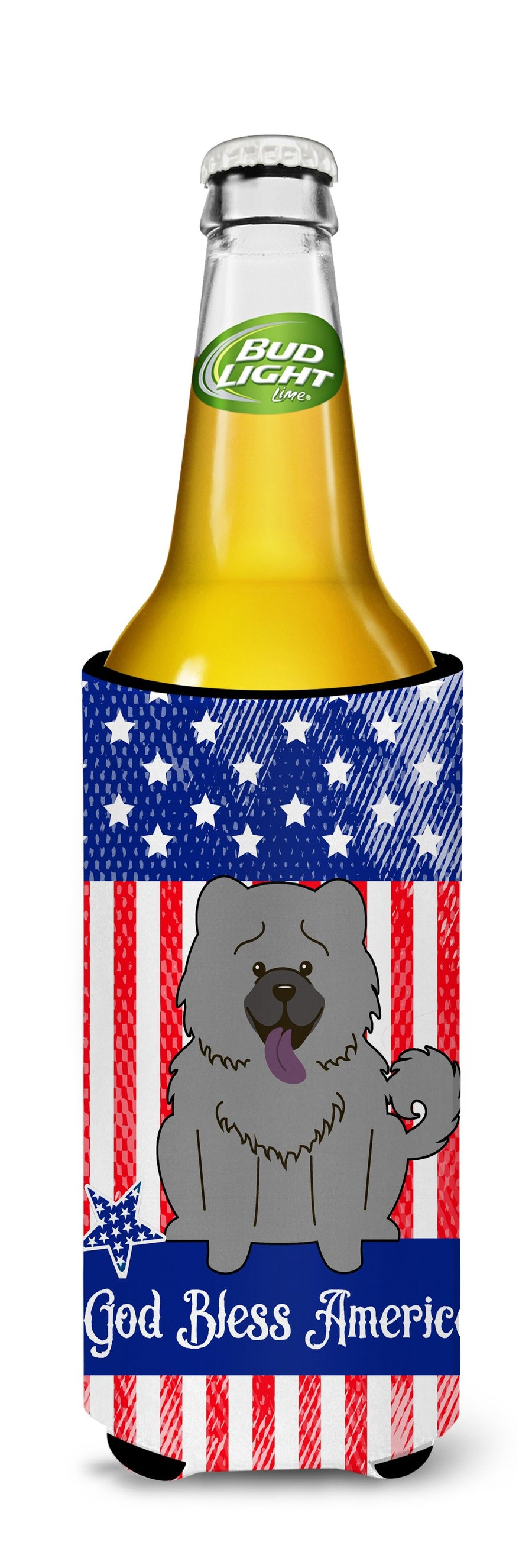 Buy this Patriotic USA Chow Chow Blue Michelob Ultra Hugger for slim cans BB3134MUK