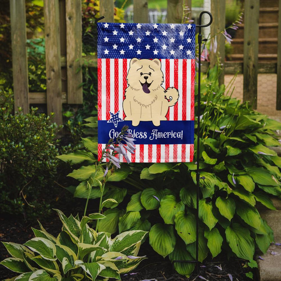 Buy this Patriotic USA Chow Chow White Flag Garden Size BB3135GF