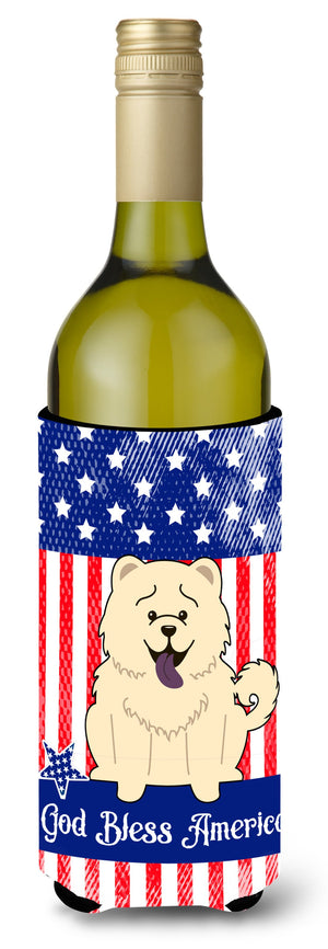Buy this Patriotic USA Chow Chow White Wine Bottle Beverge Insulator Hugger