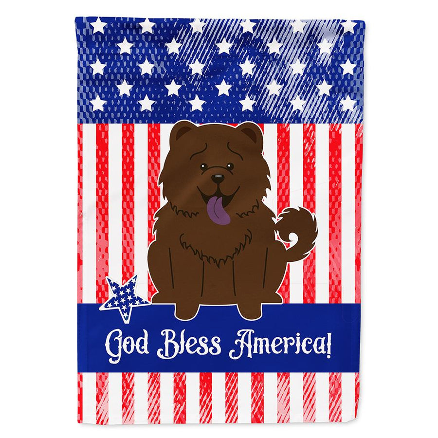 Buy this Patriotic USA Chow Chow Chocolate Flag Garden Size