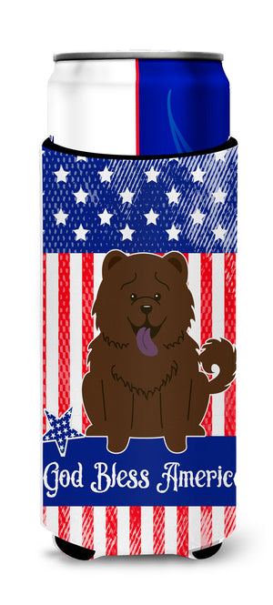 Buy this Patriotic USA Chow Chow Chocolate Michelob Ultra Hugger for slim cans BB3136MUK