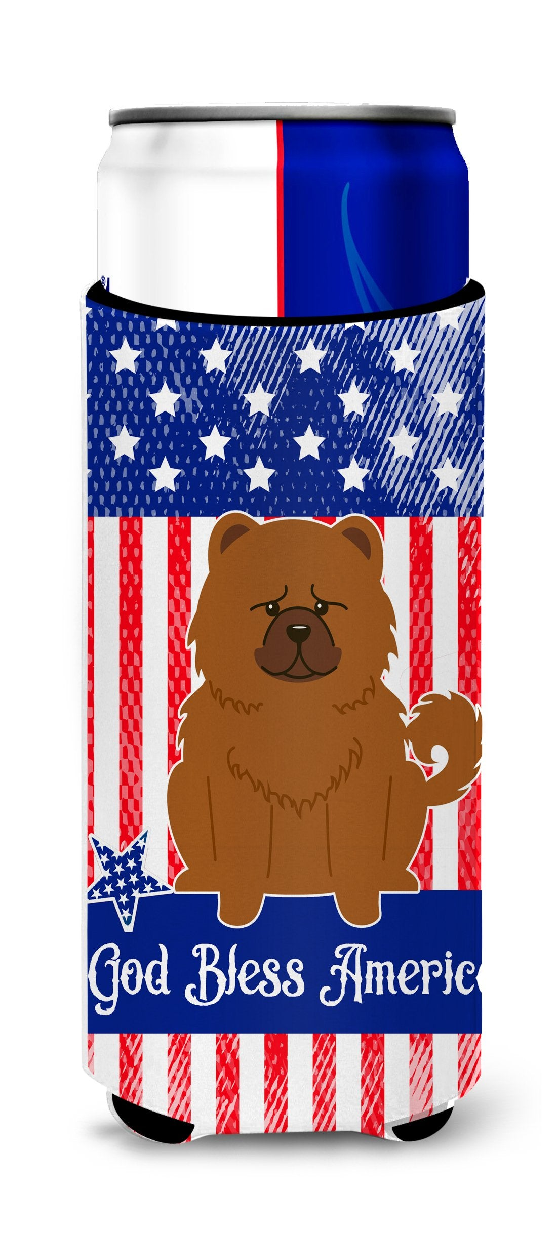 Buy this Patriotic USA Chow Chow Red Michelob Ultra Hugger for slim cans BB3137MUK