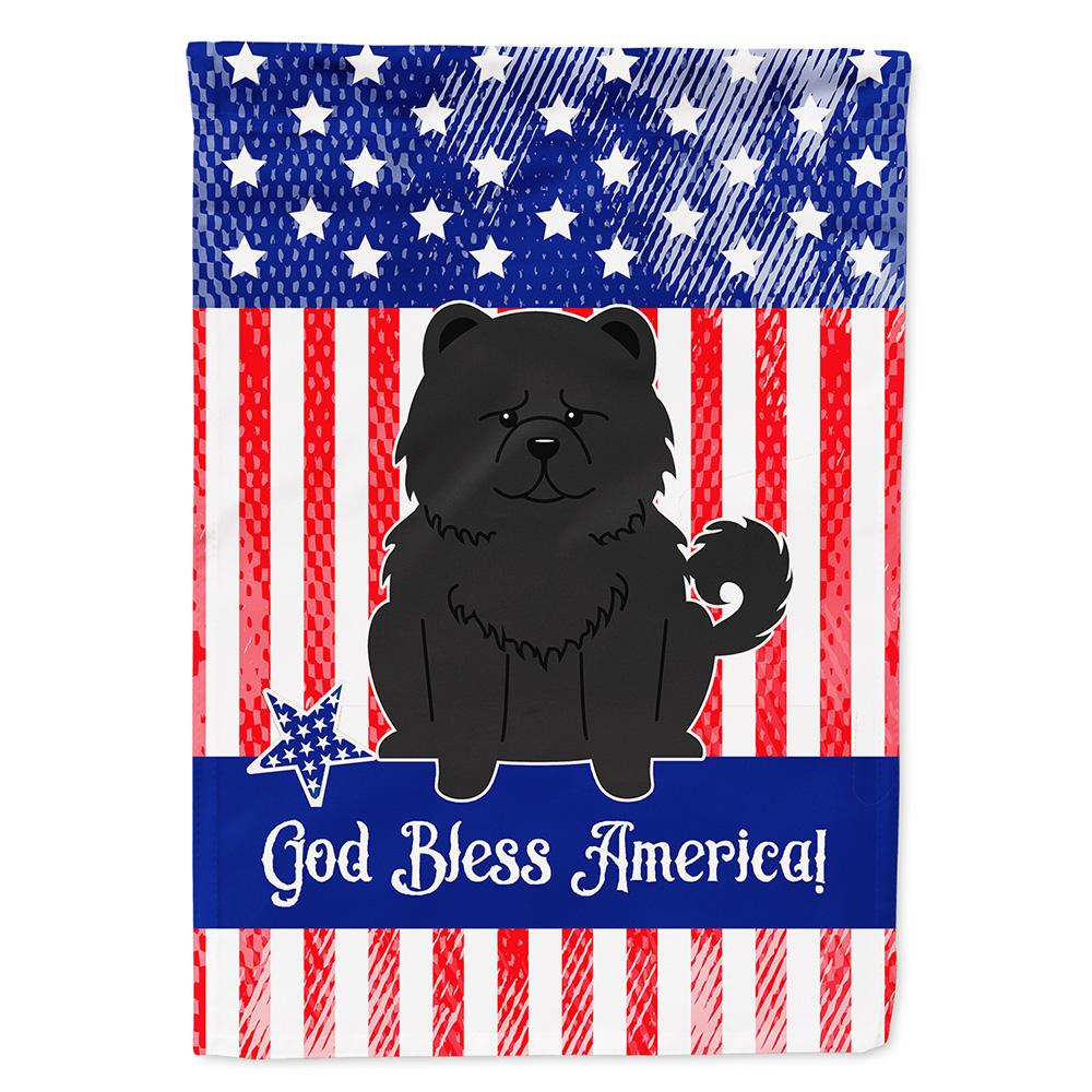 Buy this Patriotic USA Chow Chow Black Flag Garden Size BB3138GF
