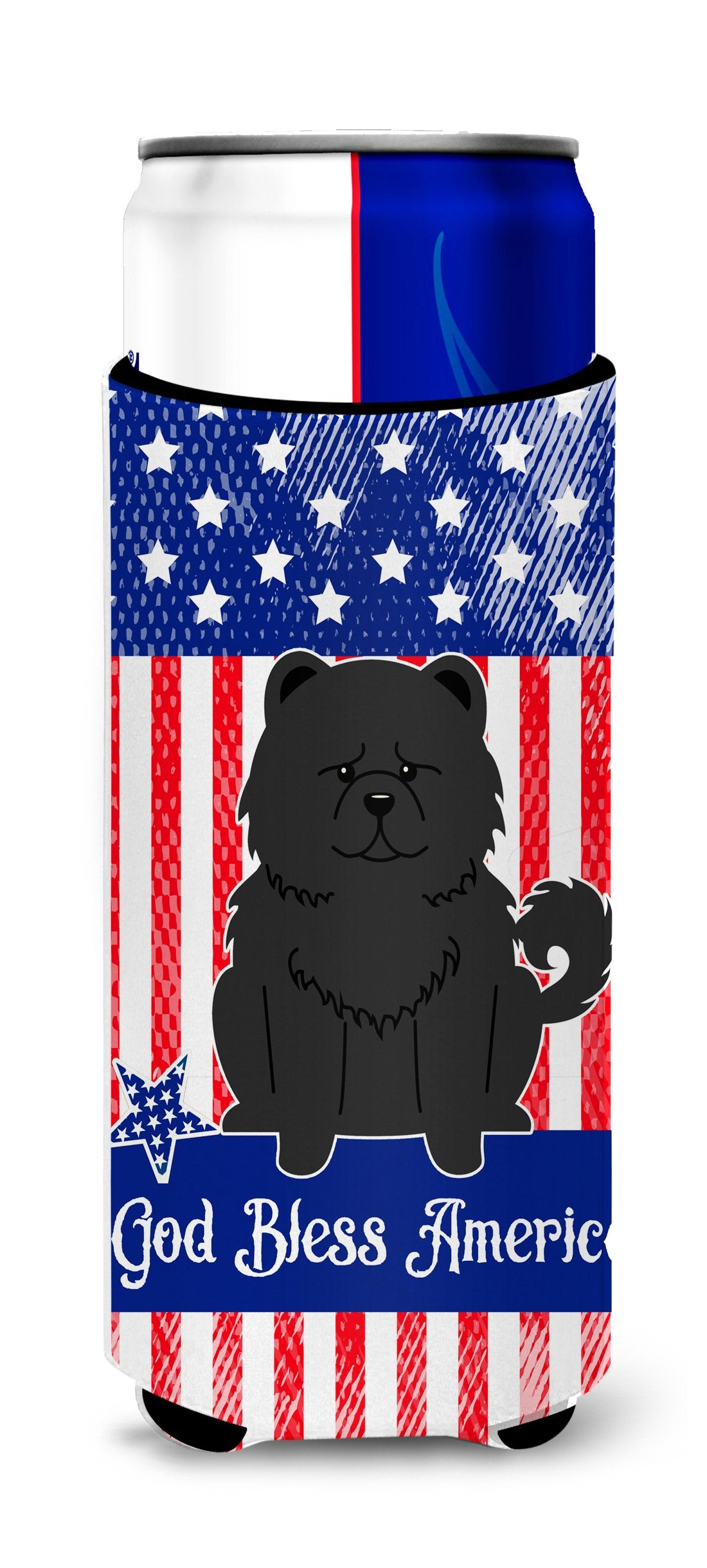 Buy this Patriotic USA Chow Chow Black Michelob Ultra Hugger for slim cans BB3138MUK