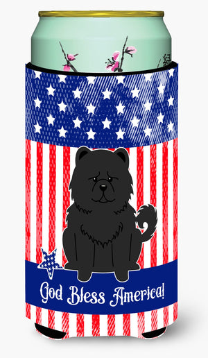 Buy this Patriotic USA Chow Chow Black Tall Boy Beverage Insulator Hugger