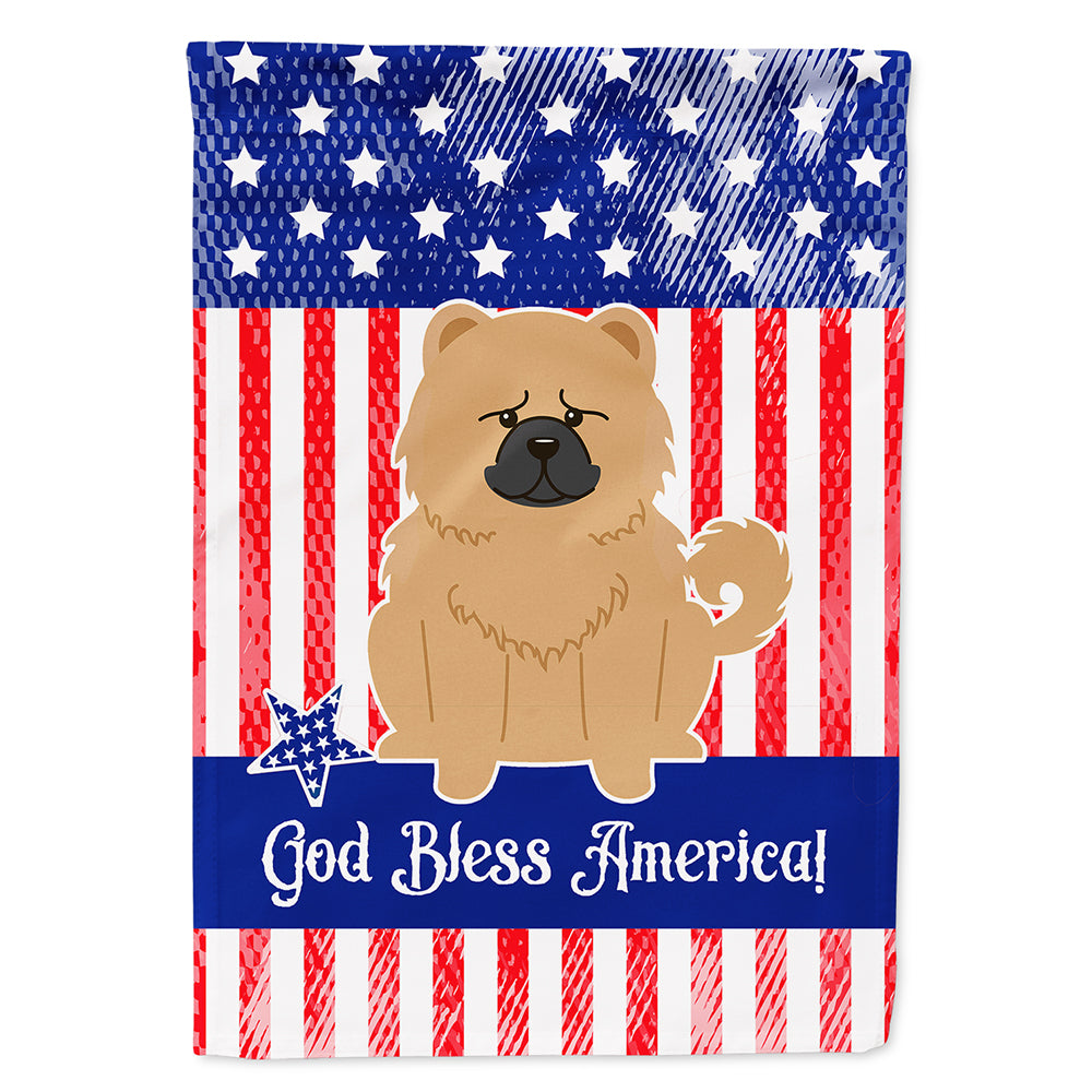 Patriotic USA Chow Chow Cream Flag Canvas House Size BB3139CHF by Caroline's Treasures