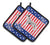 Buy this USA Patriotic Dalmatian Pair of Pot Holders BB3283PTHD