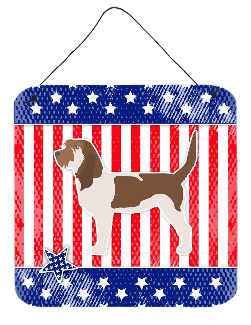USA Patriotic Grand Basset Griffon Vendeen Wall or Door Hanging Prints BB3290DS66 by Caroline's Treasures