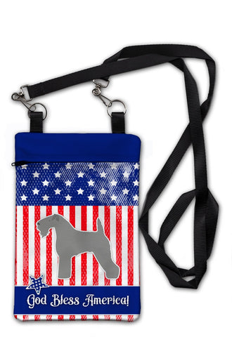 Buy this USA Patriotic Kerry Blue Terrier Crossbody Bag Purse BB3292OBDY