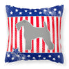 USA Patriotic Kerry Blue Terrier Fabric Decorative Pillow BB3292PW1818 by Caroline's Treasures