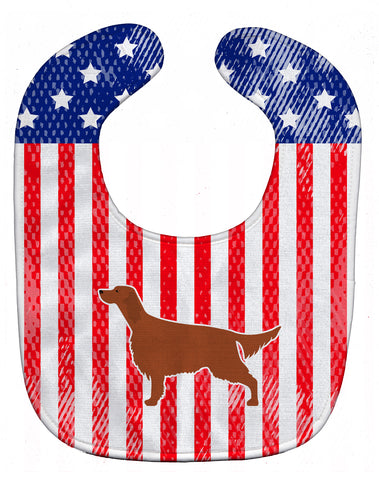 Buy this IUSA Patriotic rish Setter Baby Bib BB3293BIB