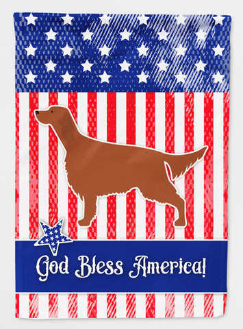 Buy this IUSA Patriotic rish Setter Flag Canvas House Size BB3293CHF