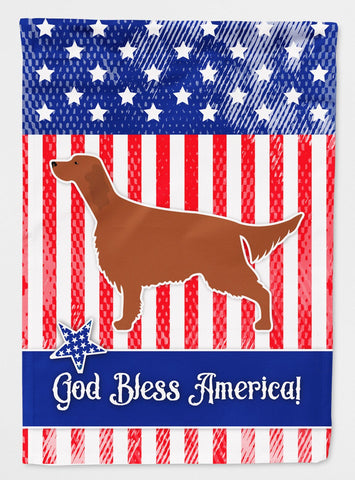Buy this IUSA Patriotic rish Setter Flag Garden Size BB3293GF