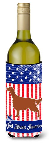 Buy this IUSA Patriotic rish Setter Wine Bottle Beverge Insulator Hugger BB3293LITERK