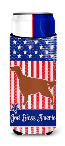 Buy this IUSA Patriotic rish Setter Michelob Ultra Hugger for slim cans BB3293MUK