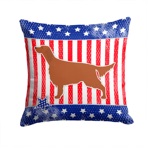 Buy this IUSA Patriotic rish Setter Fabric Decorative Pillow BB3293PW1414