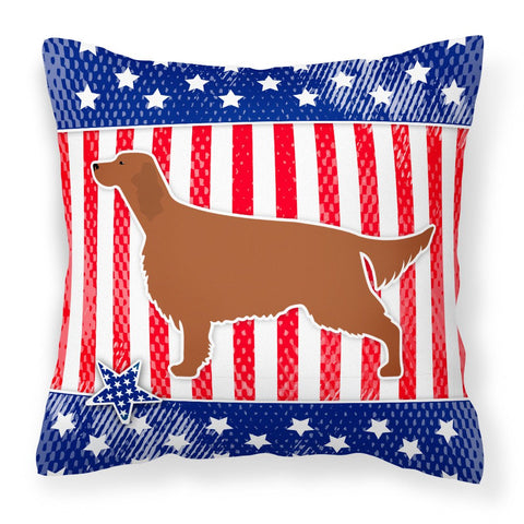 Buy this IUSA Patriotic rish Setter Fabric Decorative Pillow BB3293PW1818
