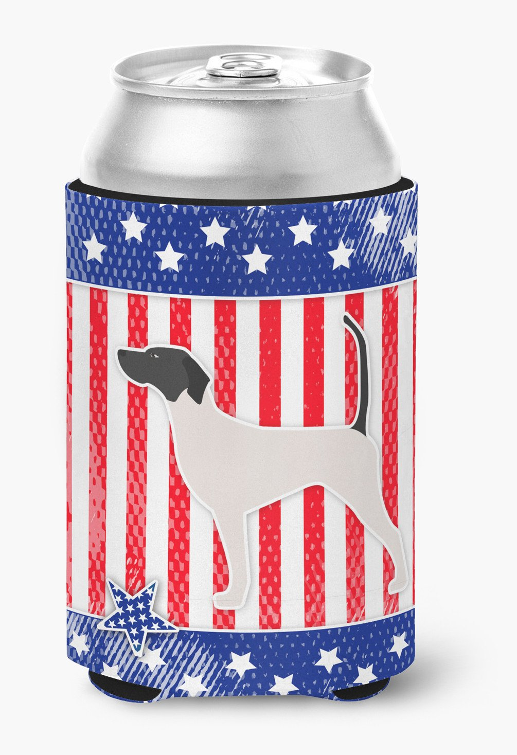 USA Patriotic English Pointer Can or Bottle Hugger BB3295CC by Caroline's Treasures