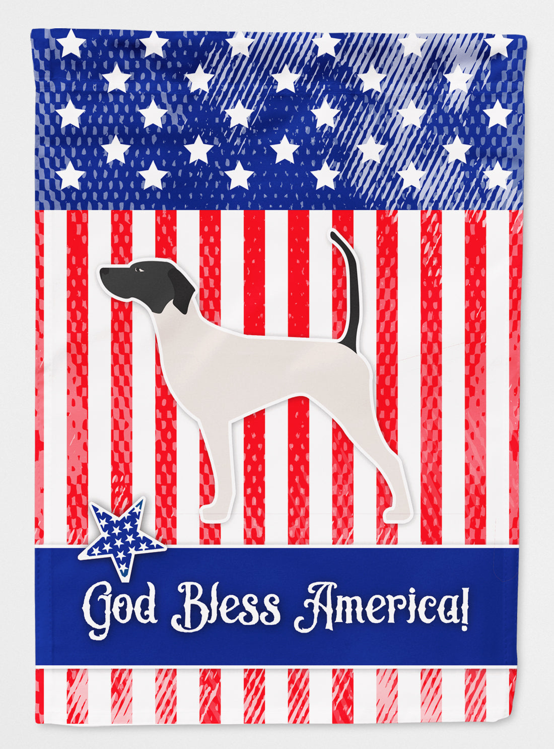 USA Patriotic English Pointer Flag Canvas House Size BB3295CHF by Caroline's Treasures