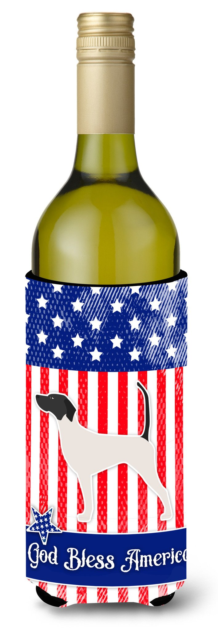 USA Patriotic English Pointer Wine Bottle Beverge Insulator Hugger BB3295LITERK by Caroline's Treasures