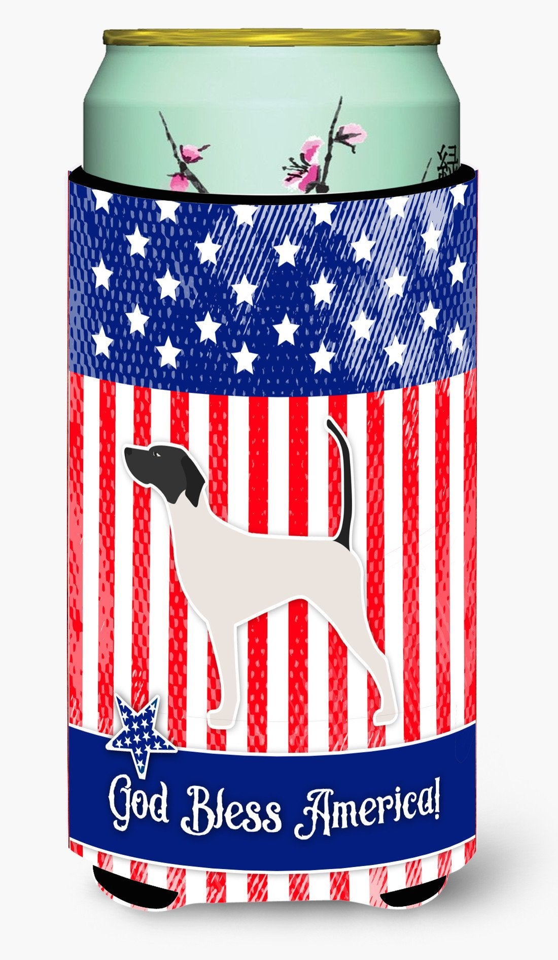 USA Patriotic English Pointer Tall Boy Beverage Insulator Hugger BB3295TBC by Caroline's Treasures