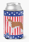 USA Patriotic Borzoi Russian Greyhound Can or Bottle Hugger BB3299CC by Caroline's Treasures