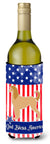 USA Patriotic Afghan Hound Wine Bottle Beverge Insulator Hugger BB3306LITERK by Caroline's Treasures