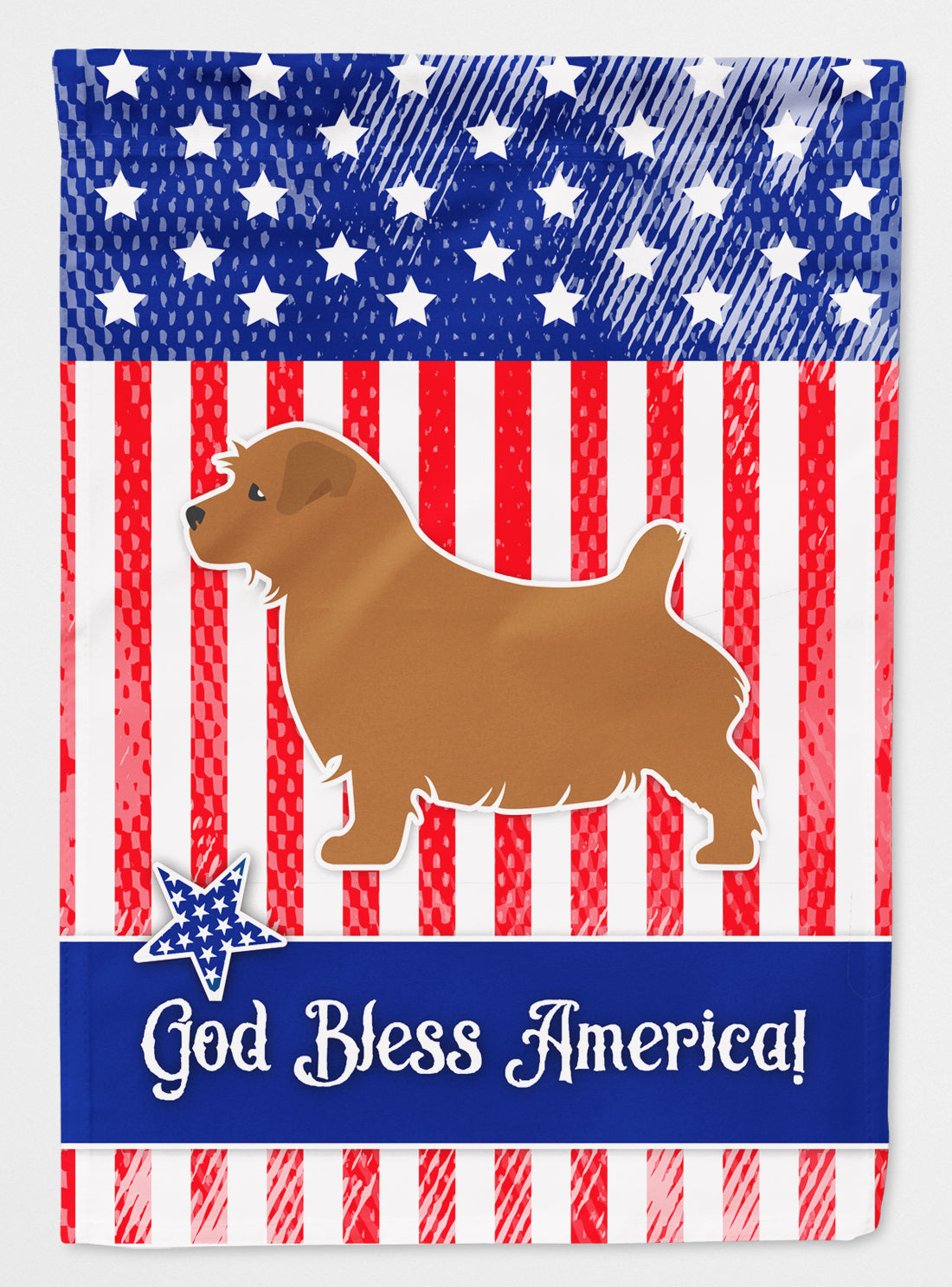 USA Patriotic Norfolk Terrier Flag Canvas House Size BB3309CHF by Caroline's Treasures