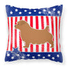 USA Patriotic Norfolk Terrier Fabric Decorative Pillow BB3309PW1818 by Caroline's Treasures