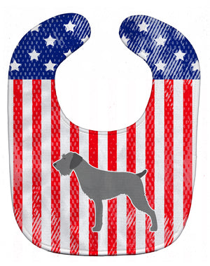 Buy this USA Patriotic German Wirehaired Pointer Baby Bib BB3311BIB