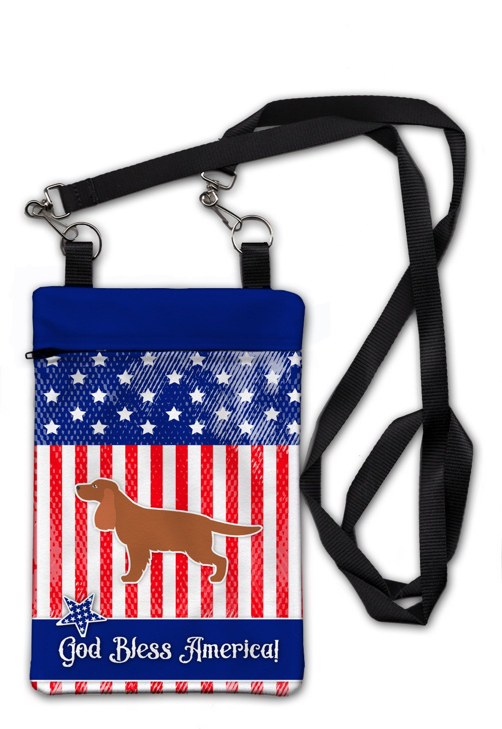 USA Patriotic English Cocker Spaniel Crossbody Bag Purse BB3312OBDY by Caroline's Treasures