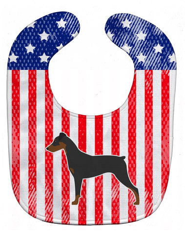 Buy this USA Patriotic German Pinscher Baby Bib BB3313BIB