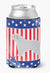 USA Patriotic Spanish Water Dog Can or Bottle Hugger BB3315CC by Caroline's Treasures