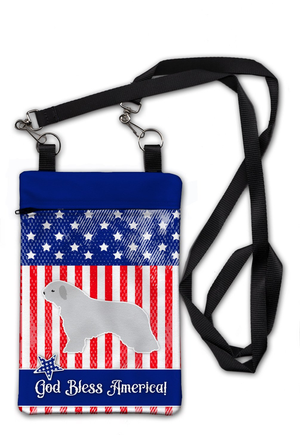 USA Patriotic Spanish Water Dog Crossbody Bag Purse BB3315OBDY by Caroline's Treasures