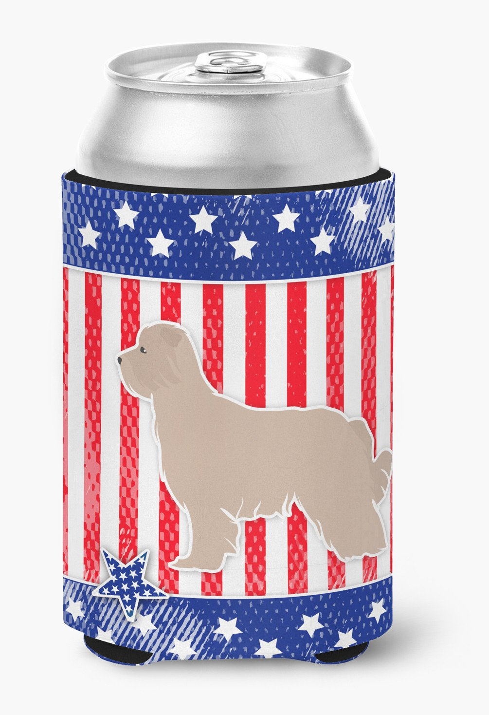 USA Patriotic Pyrenean Shepherd Can or Bottle Hugger BB3318CC by Caroline's Treasures