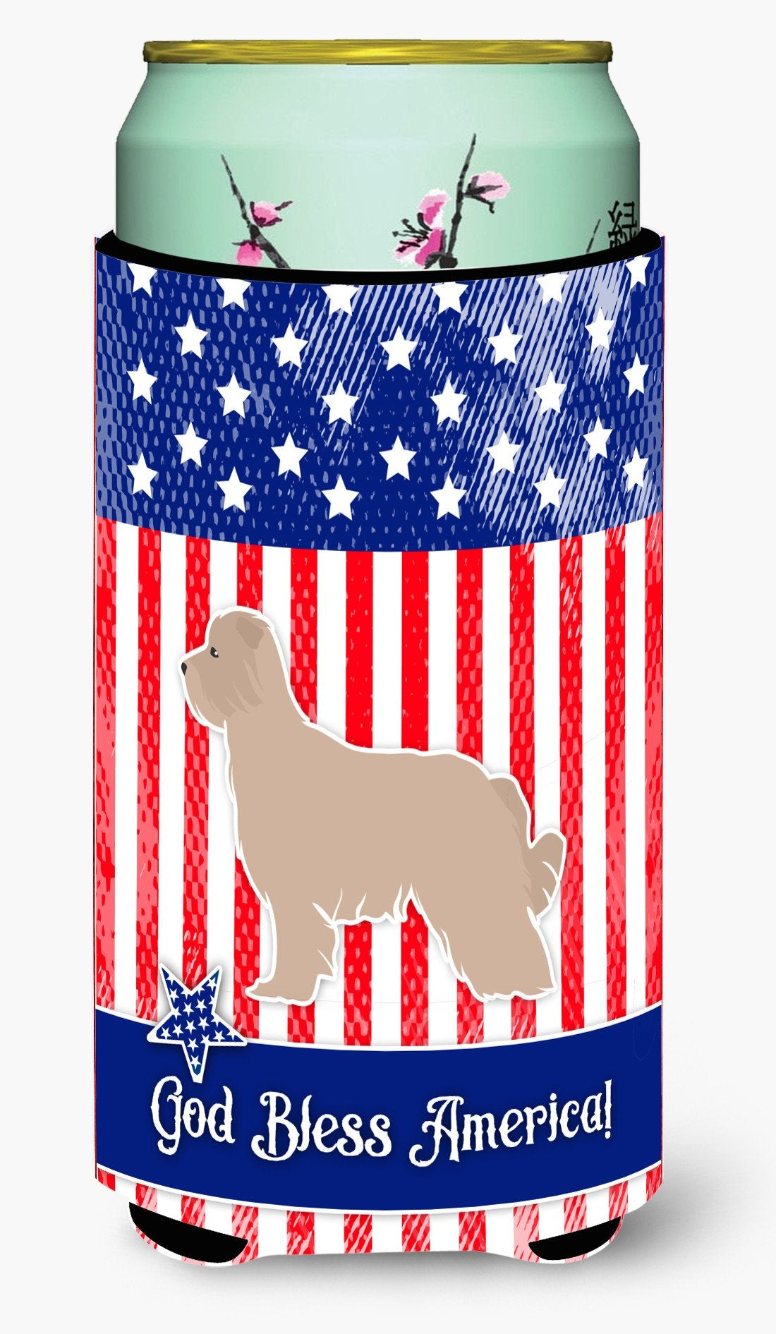 USA Patriotic Pyrenean Shepherd Tall Boy Beverage Insulator Hugger BB3318TBC by Caroline's Treasures