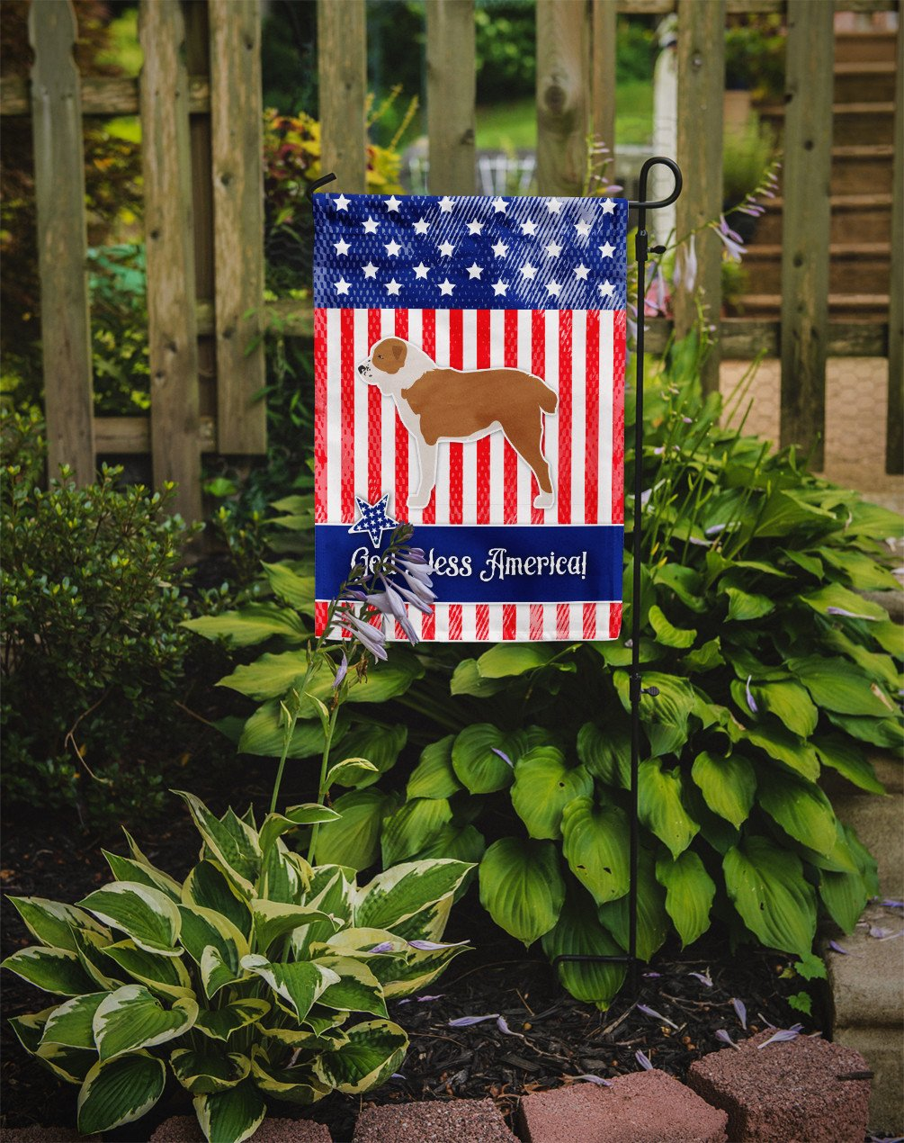USA Patriotic Central Asian Shepherd Dog Flag Garden Size BB3328GF by Caroline's Treasures