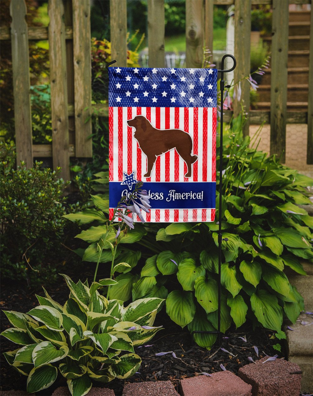 USA Patriotic Portuguese Sheepdog Dog Flag Garden Size BB3331GF by Caroline's Treasures