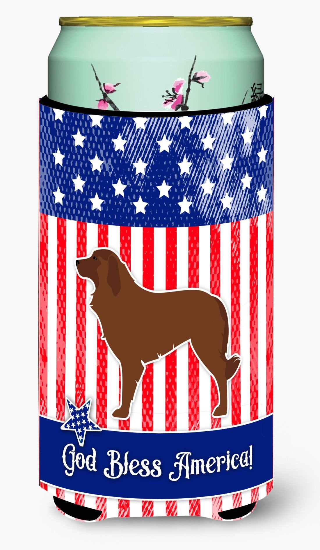 USA Patriotic Portuguese Sheepdog Dog Tall Boy Beverage Insulator Hugger BB3331TBC by Caroline's Treasures