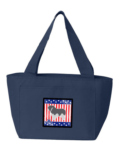 Buy this USA Patriotic Polish Lowland Sheepdog Dog Lunch Bag BB3332NA-8808