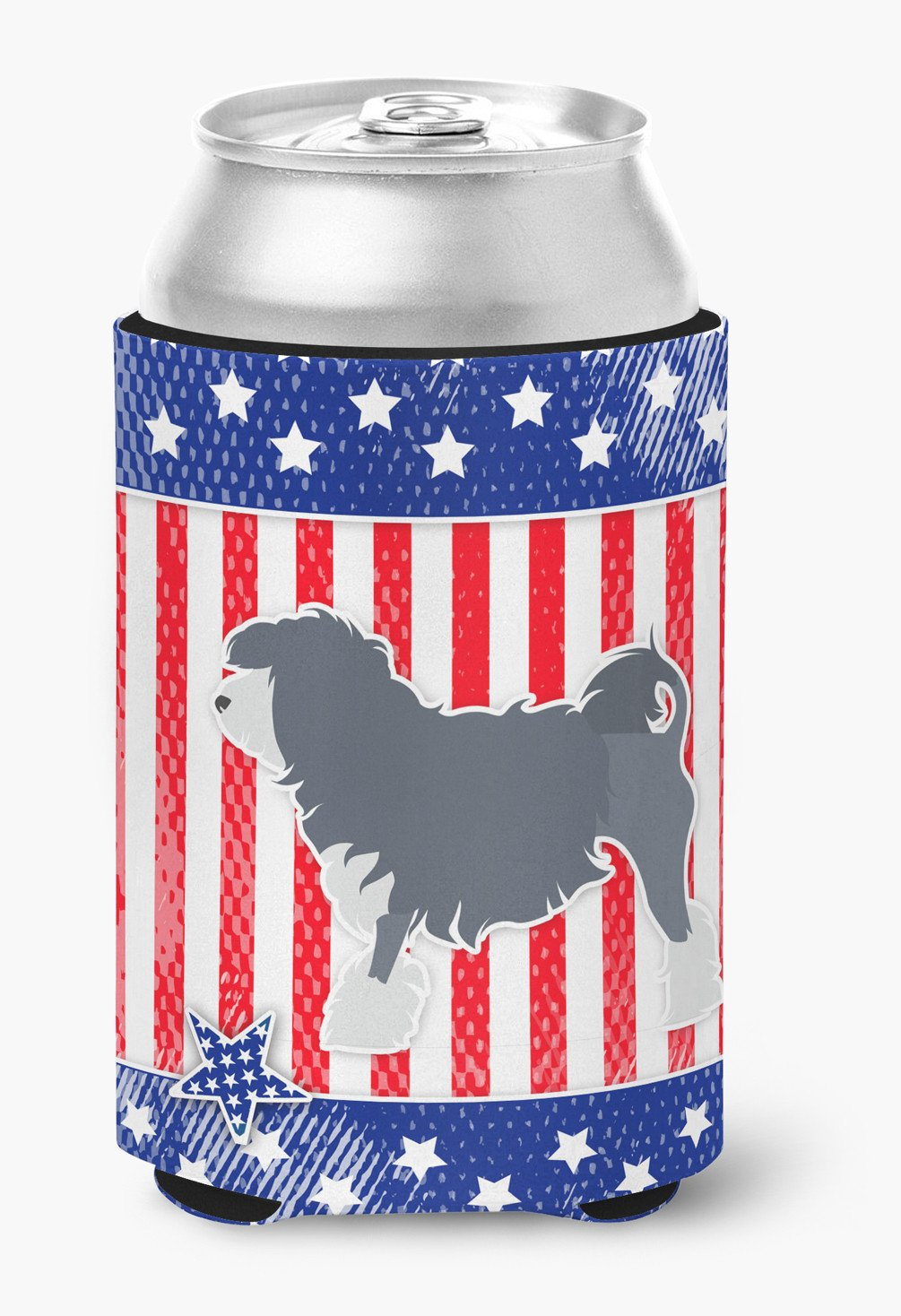 USA Patriotic Lowchen Can or Bottle Hugger BB3335CC by Caroline's Treasures